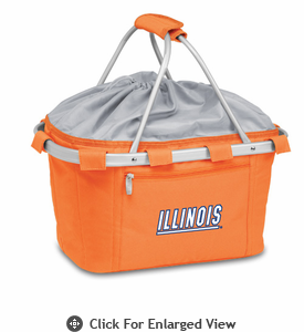 Picnic Time Metro Basket Embroidered- Orange University of Illinois Fighting Illini