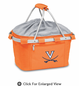 Picnic Time Metro Basket Embroidered- Orange University of Virginia Cavalier