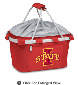 Picnic Time Metro Basket Embroidered- Red Iowa State Cyclones