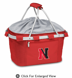 Picnic Time Metro Basket Embroidered- Red Northeastern University Huskies