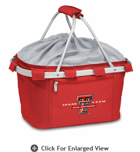 Picnic Time Metro Basket Embroidered- Red Texas Tech Red Raiders