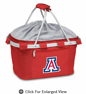 Picnic Time Metro Basket Embroidered- Red University of Arizona Wildcats