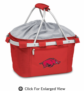 Picnic Time Metro Basket Embroidered- Red University of Arkansas Razorbacks