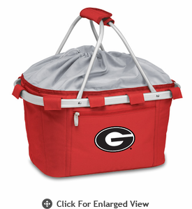 Picnic Time Metro Basket Embroidered- Red University of Georgia Bulldogs
