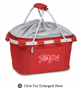 Picnic Time Metro Basket Embroidered- Red University of Maryland Terrapins