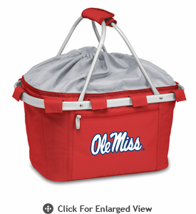 Picnic Time Metro Basket Embroidered- Red University of Mississippi Rebels