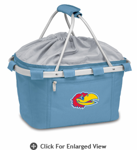 Picnic Time Metro Basket Embroidered- Sky Blue University of Kansas Jayhawks