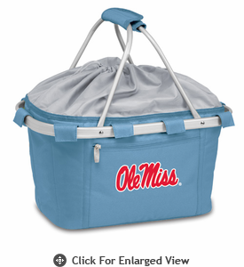 Picnic Time Metro Basket Embroidered- Sky Blue University of Mississippi Rebels