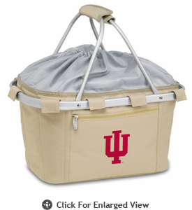 Picnic Time Metro Basket Embroidered- Tan Indiana University Hoosiers