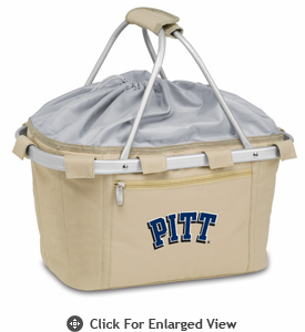 Picnic Time Metro Basket Embroidered- Tan University of Pittsburgh Panthers