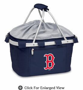 Picnic Time Metro Basket - Navy Blue Boston Red Sox