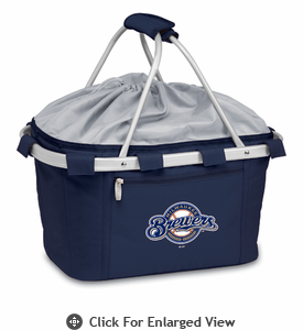 Picnic Time Metro Basket - Navy Blue Milwaukee Brewers