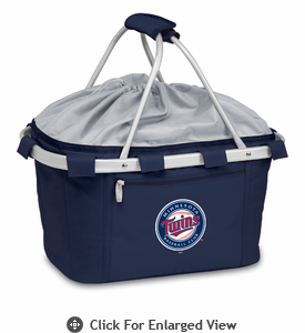 Picnic Time Metro Basket - Navy Blue Minnesota Twins