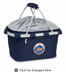 Picnic Time Metro Basket - Navy Blue New York Mets