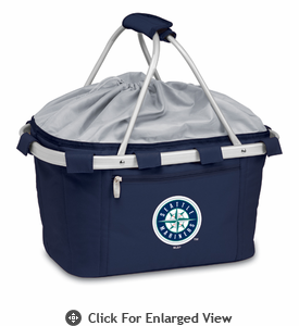 Picnic Time Metro Basket - Navy Blue Seattle Mariners
