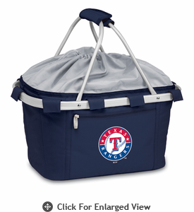 Picnic Time Metro Basket - Navy Blue Texas Rangers