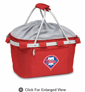 Picnic Time Metro Basket - Red Philadelphia Phillies