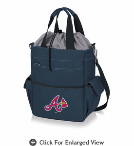 Picnic Time MLB - Activo Cooler Tote  Atlanta Braves Navy Blue