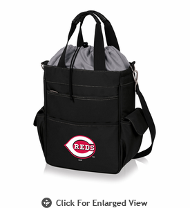 Picnic Time MLB - Activo Cooler Tote  Cincinnati Reds Black w/ Grey