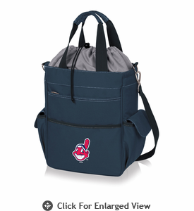 Picnic Time MLB - Activo Cooler Tote  Cleveland Indians Navy Blue