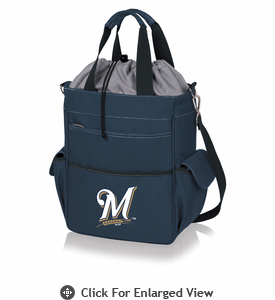 Picnic Time MLB - Activo Cooler Tote  Milwaukee Brewers Navy Blue