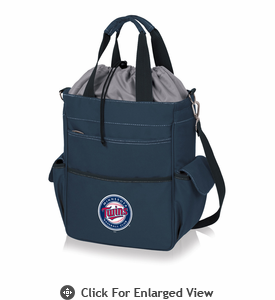 Picnic Time MLB - Activo Cooler Tote  Minnesota Twins Navy Blue