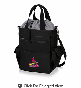 Picnic Time MLB - Activo Cooler Tote  St. Louis Cardinals Black w/ Grey