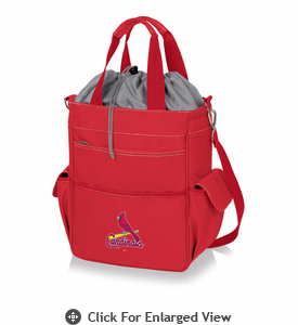 Picnic Time MLB - Activo Cooler Tote  St. Louis Cardinals  Red