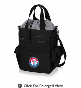Picnic Time MLB - Activo Cooler Tote  Texas Rangers Black w/ Grey