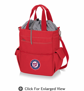 Picnic Time MLB - Activo Cooler Tote  Washington Nationals  Red