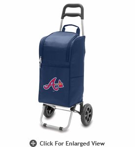 Picnic Time MLB Cart Cooler - Navy Blue Atlanta Braves