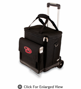 Picnic Time MLB Cellar w/ Trolley - Black Arizona Diamondbacks