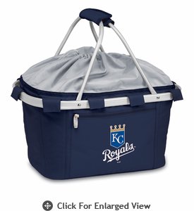 Picnic Time MLB -  Metro Basket - Navy Blue Kansas City Royals