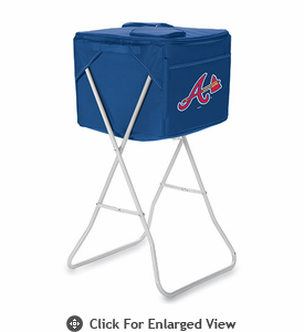 Picnic Time MLB Party Cube - Navy Blue Atlanta Braves