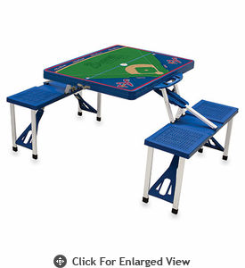 Picnic Time MLB Picnic Table Sport - Blue Atlanta Braves