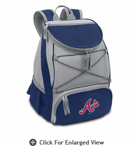 Picnic Time MLB PTX - Navy Blue Atlanta Braves