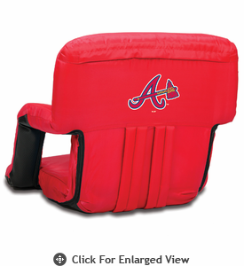 Picnic Time MLB Ventura Seat - Red Atlanta Braves