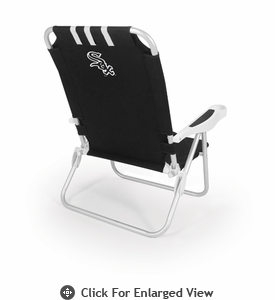 Picnic Time Monaco Beach Chair - Black Chicago White Sox