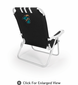 Picnic Time Monaco Beach Chair - Black Coastal Carolina Chanticleers