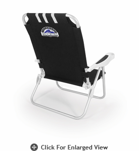 Picnic Time Monaco Beach Chair - Black Colorado Rockies