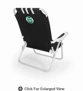 Picnic Time Monaco Beach Chair - Black Colorado State Rams