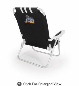 Picnic Time Monaco Beach Chair - Black James Madison University Dukes