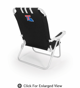 Picnic Time Monaco Beach Chair - Black Louisiana Tech Bulldogs