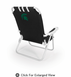 Picnic Time Monaco Beach Chair - Black Michigan State Spartans