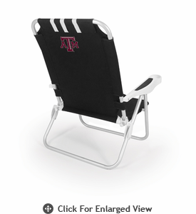 Picnic Time Monaco Beach Chair - Black Texas A & M Aggies