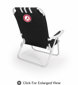 Picnic Time Monaco Beach Chair - Black University of Alabama Crimson Tide