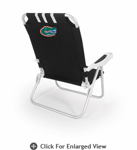 Picnic Time Monaco Beach Chair - Black University of Florida Gators