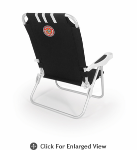 Picnic Time Monaco Beach Chair - Black University of Louisiana Ragin Cajuns