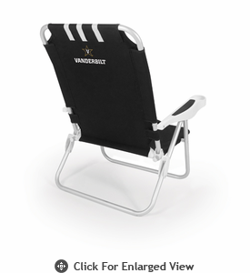Picnic Time Monaco Beach Chair - Black Vanderbilt University Commodores