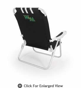 Picnic Time Monaco Beach Chair - Black William & Mary